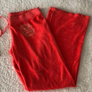 Juicy couture terry cloth pants